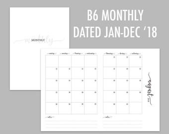 B6 TN Monthly 2018 (Jan - Dec)