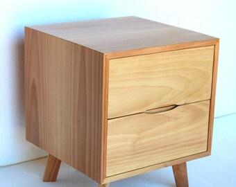 Solid Mediterranean Walnut Nightstand/ Bedside Table/ Custom Made