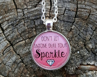Sparkle on necklace