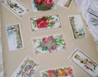 Antique Scraps-Roses and Fruit -Advertising 20 piece Lot-1890's-Die cut-German