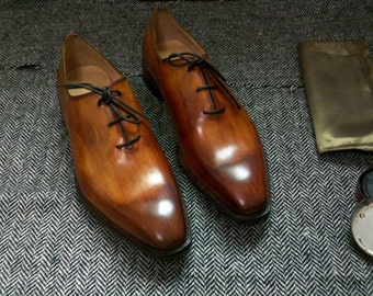 Custom made women shoes wholecut oxford lace up shoes