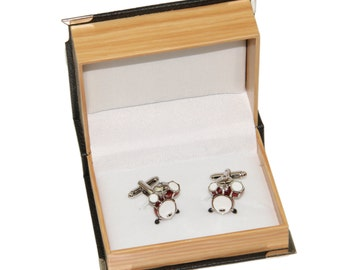 Men's Drums Cufflinks and Gift Box - Novelty Cufflinks