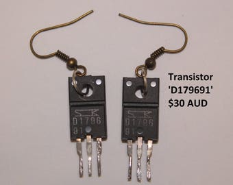 Salvaged Electronic Component Earrings