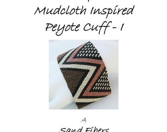 3 for 2 Program - Wide African Mudcloth Inspired Peyote Cuff I - For Personal Use Only PDF Pattern