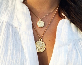 Medallion necklace etsy the santorini medallion necklace aloadofball Gallery