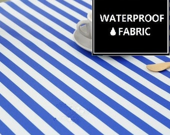 Waterproof Fabric - Vivid Blue Pattern, 150cm Width, by Yard
