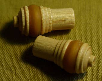 Wooden acorns cord pulls for roman blinds or lights
