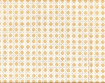 Tissu coton Michael Miller Tressage blanc et beige