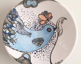 Handmade Ceramic Bird Wall Plate