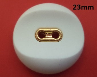 6 buttons 23 mm white button (3452e) Jack Buttons