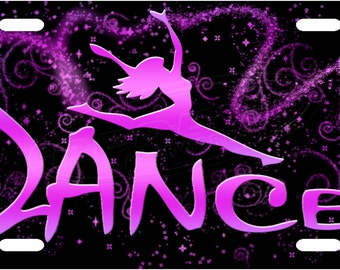 Dance License Plate Tag