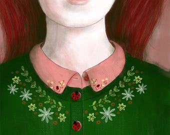 PRINT Ladybird Girl
