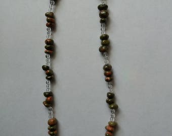 Unakite Jasper Necklace