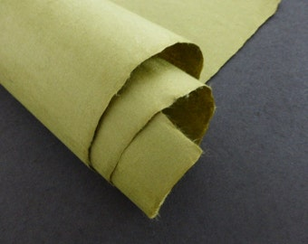 Olive · Japanese Original Quality Moriki Kozo Washi Paper for Printmaking Bookbinding Conservation and Repair