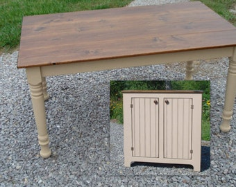 Dining Room Set, Farmhouse Table, Small Sideboard