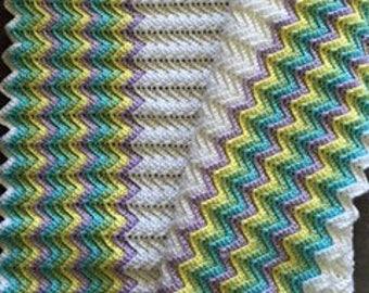 Pastel Stripes Baby Blanket