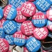 "50 Baby Shower 1"" Pinbacks - Team Twins Pink Blue BOLD - Gender Reveal Party"