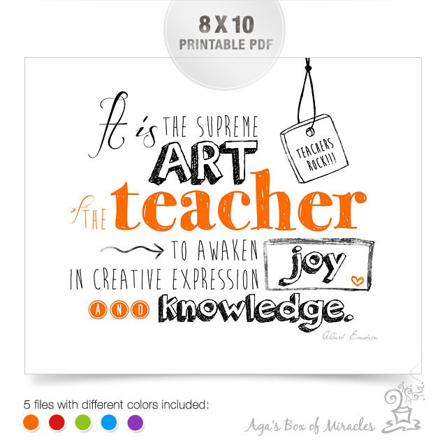 Thank You Teacher Quotes Unique 8X10 Teacher Appreciation Printable  Thank You Teacher