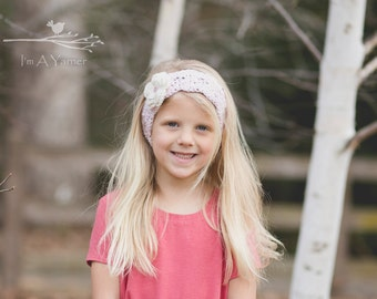 Pink Baby Headband, Crochet Headbands, Little Girl Head Band, Lace Earwarmer, Summer Headbands for Women, Headband with Flower, Head Bands