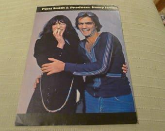 Patti Smith & Jimmy Iovine CLIPPING photo