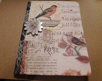 Bird Journal/Nature Book/Composition Book/Junk Journal/Altered Book