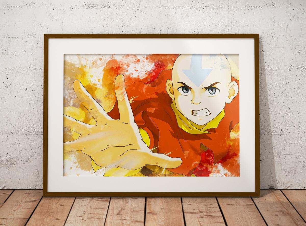 Aang Print Avatar: The Last Airbender Poster Aang Zuko Anime