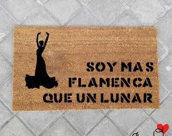 """Felpudo """"Soy más flamenca que un lunar"""""""