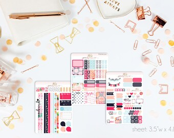 Floral Affair MINI Weekly Kit // 130+ Matte Planner Stickers // Perfect for your Personal Planner // WKM0310