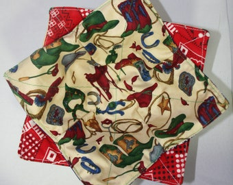 Keep your fingers either warn or cool with my Bowl Cozy in Country cowboy with red bandana