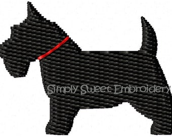 Scottie Dog Machine Embroidery Mini Design