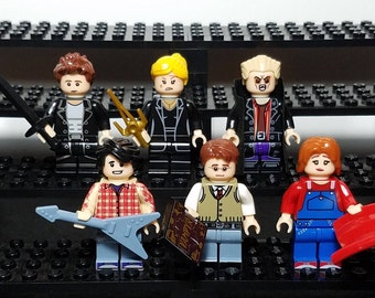 Buffy the Vampire Slayer Set of 6 Minifigs Buffy Spike Angel Willow Xander Giles Joss Whedon Building Toys Building Block Toy