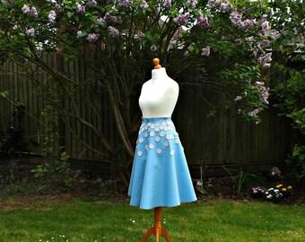 50s Midi Skirt, Full Circle Skirt, Floral Midi Skirt, Midi Skirt, 50s Skirt, Cotton Skirt, 50s Style Skirt, Floral Skirt, Womens Skirts, 10