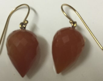 14k Earrings Clementine Carnelian Acorns You'll Save More than 50 Percent off Current Listing. Sparkling - Rich - Genuine.