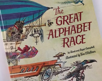 1972 The Great Alphabet Race by Janet and Roger Campbell - Illustrated by Tom O'Sullivan - A Golden Book