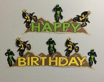 Dirt Bike Motorcross Birthday Party Banner Sign