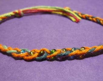 Rainbow Hemp Wish bracelet