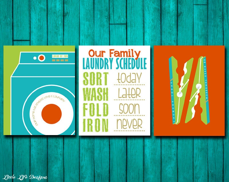 Laundry Room Signs Schedule Sign Decor