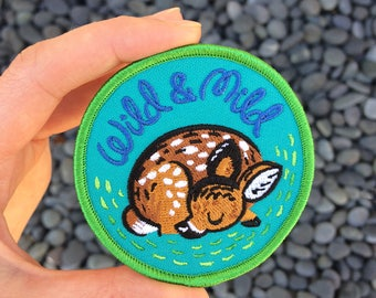 Wild and Mild Deer Iron On Patch