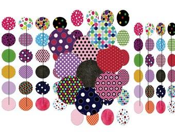 Digital images for cabochon polka dots