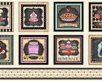 Quilting Treasures. Home Sweet Home. Baking Large Picture Patches  2/3 Yard Panel - Quilting Panel
