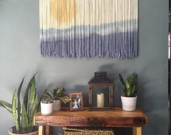 Yarn wall hanging - Take me to the beach