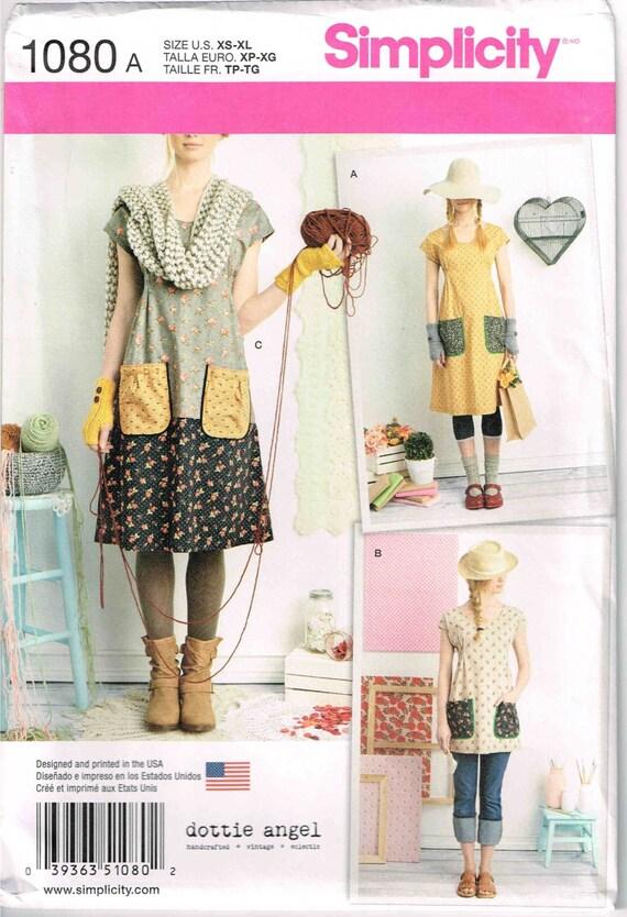 Boho Oma Chic Kleid nähen Muster Einfachheit 1080 Tunika oben