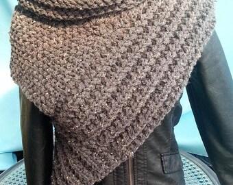 Scarf Vest Gr. S-M Panem Katniss scarf Vest Poncho Cape Jacket coat cardigan knit jacket knitted coat hand knitted stuff