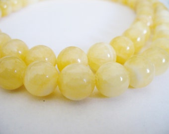 Calcite Beads Gemstone Light Yellow  Round 10mm