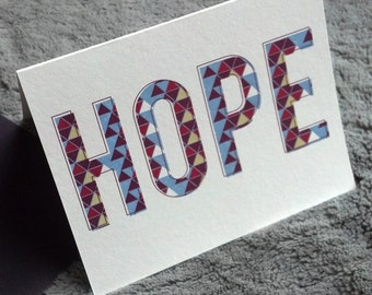 hope card - all proceeds go to JWRC