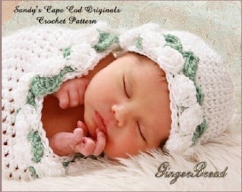 Preemie Crochet Pattern to make Precious Angel Cocoon Beanie pdf 176