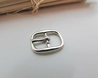 5 small belt buckle for strap max 8mm - silver - 1.7 x 1.3 cm - 19.52