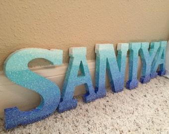 Glitter Ombré Letters