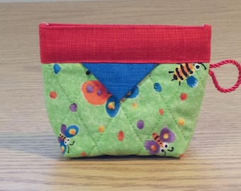 Quilted Snap Bag (SB206) Bugs