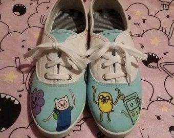 Hand painted Adventure Time shoes!